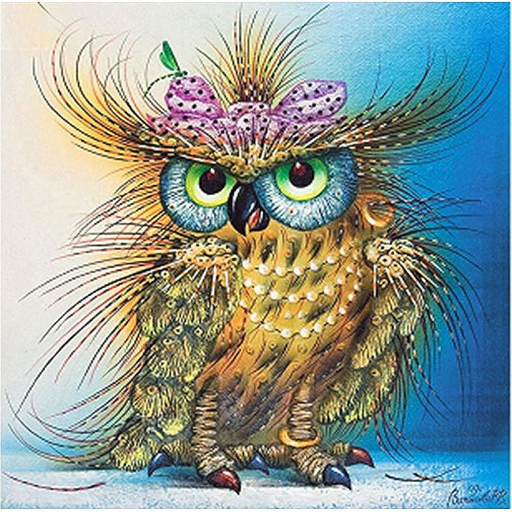 AURNEW Full Drill 5D DIY Diamond Embroidery Cute owl Diamond Painting Cross Stitch Rhinestone Mosaic Home Decoration Gift (3030cm)