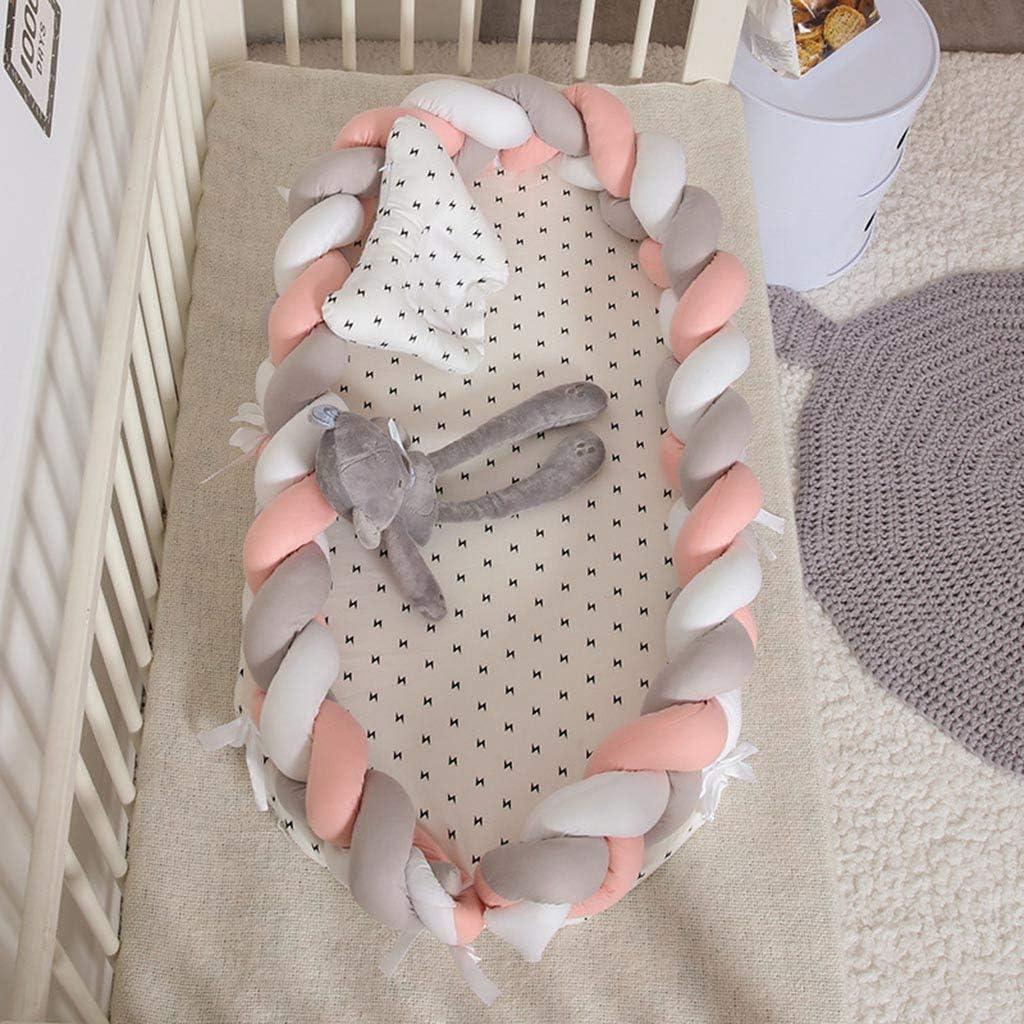 HR-COME   Lit De Bébé Portable En Tricot   Nid De Sommeil Nouveau-né   Transat En Coton Respirant Doux   Très Adapté Au Sommeil De Bébé 4