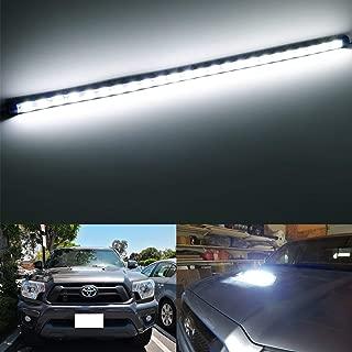 iJDMTOY Xenon White 24-SMD Flexible LED Hood Bulge Light Strip For 2012-2015 Toyota Tacoma w/Hood Scoop Bulge