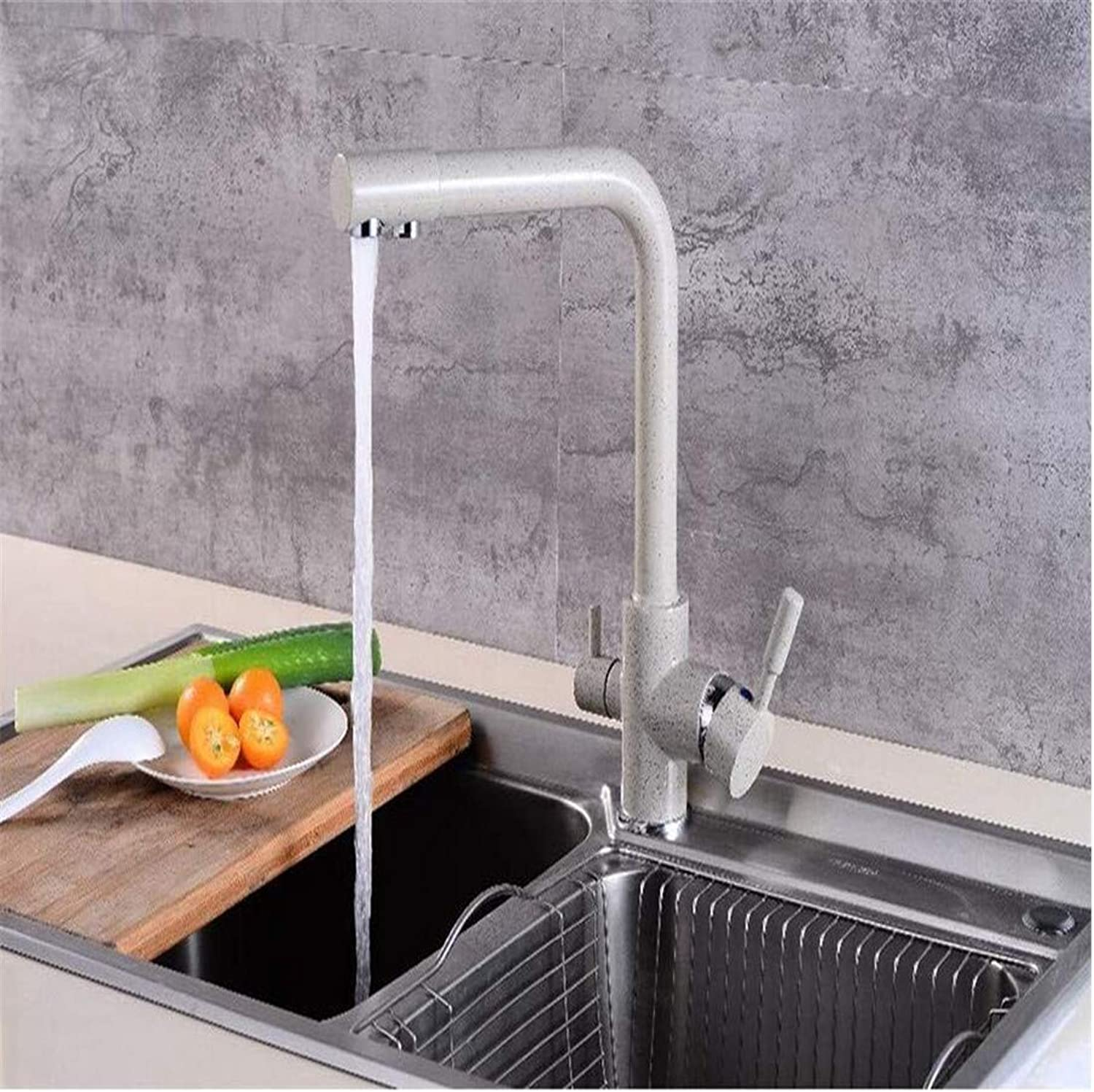 Brass Chrome Vintage Stainless Steel Taps 360 Swivel Brass Kitchen Faucets Deck Mounted Mixer Tap Water Filter