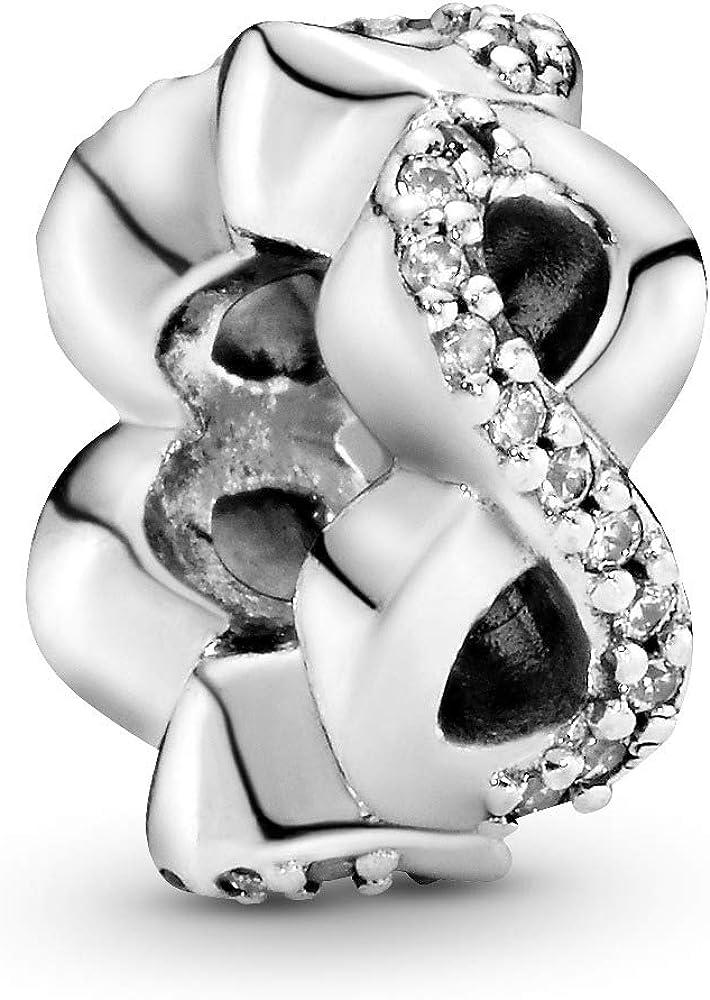 Pandoro ciondolo da donna charm distanziatore infinito scintillante in argento sterling 925 792101CZ