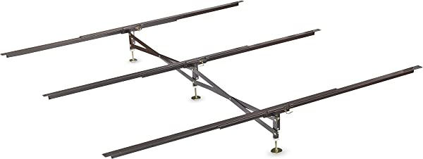 Glideaway X Support Bed Frame Support System GS 3 XS Model 3 Cross Rails And 3 Legs Strong Center Support Base For Full Queen And King Mattress Box Springs And Bed Foundations