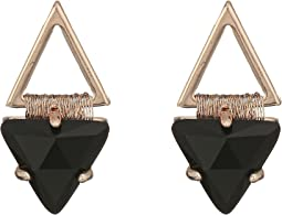 Rebecca Minkoff - Thread Wrapped Geometric Stud Earrings