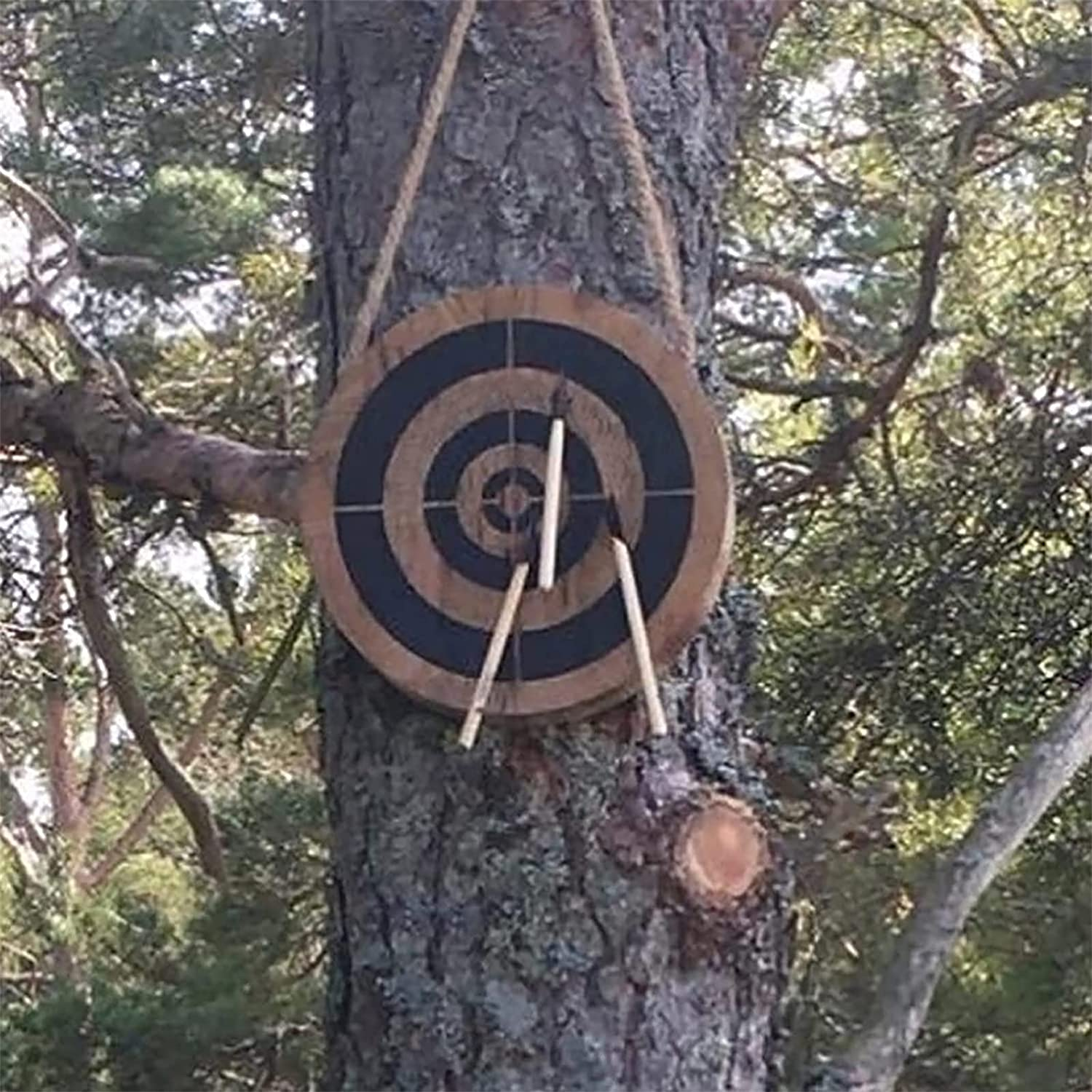 PENGLEI Wooden Target Plate Set, Small Axe Throwing Game, Outdoo