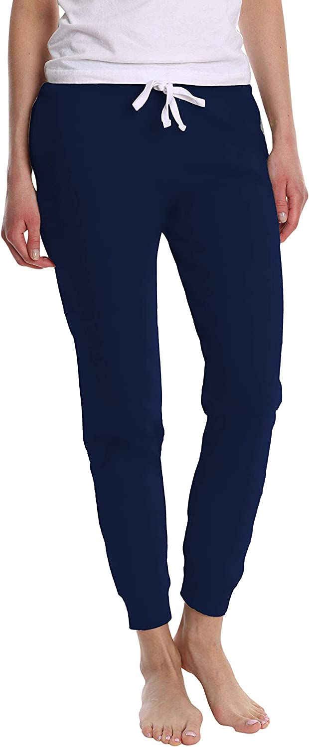 Jogger and Capri Length Available Blis Womens Yoga Workout Lounge Cotton Jogger Pant with Pockets and Drawstring