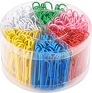 Sunmns 300 Pieces Large Colorful Paper Clips, 2 Inch