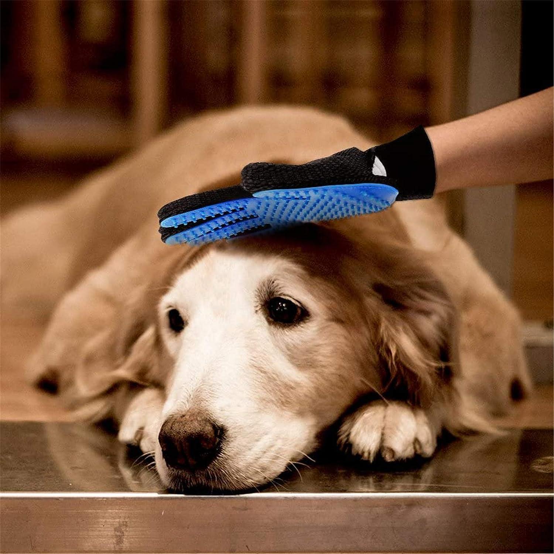 Cat Brush Dog Brush Rosarden Pet Grooming Glove Pet Hair Remover Mitt Massage Tool with Enhanced Five Finger Design Excellent Pet Grooming Kit for Pet Massage Deshedding Glove Brush
