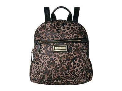 Calvin Klein Belfast Dressy Nylon Backpack (Leopard) Backpack Bags