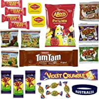Best of Australia Chocolate & Snack Box - Most Popular Australian Snacks - Tim Tam, Allen's Party Mix, Vegemite, Cherry...