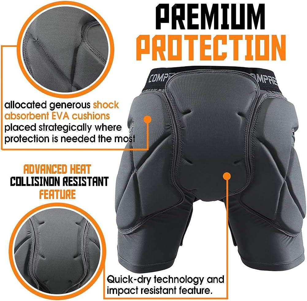 Shinestone Protective Padded Shorts Detachable Pants