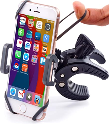 Bike & Motorcycle Phone Mount - for iPhone 11 (Xr, Xs Max, 8 Plus), Galaxy S20 or Any Cell Phone - Universal ATV, Mou...