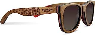 Handmade Maple Wood Sunglasses - Polarized UV400 Lenses in a Wooden Wayfarer that Floats!