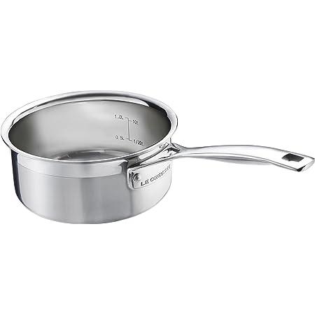 Le Creuset Tri-Ply Stainless Steel 1-1/2-Quart Open Saucepan