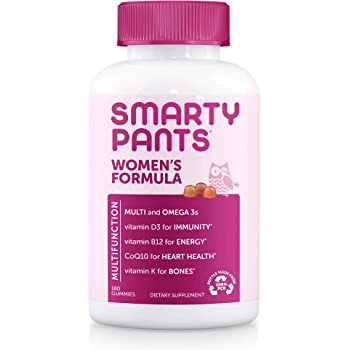 SmartyPants Women's Formula Gummy Multivitamins, 180 Count (30 Day Supply) (WC180)