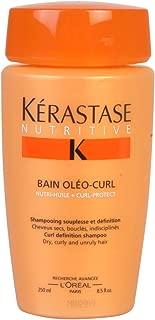 Loreal Kerastase Nutritive Bain Oleo-Curl Curl Definition Shampoo, 8.5-Ounce Bottle