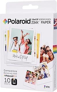 Polaroid - Papel fotográfico con impresión de Borde Zink de 3,5 x 4,25 Pulgadas (10 Hojas), Compatible con cámara instantá...