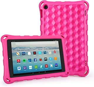 All-New Amazon Fire HD 10 Tablet Case-Auorld Anti Slip Shockproof Light Weight Protective Case for Kindle Fire 10.1 inch Display Tablet(2015&2017 Release - Pink