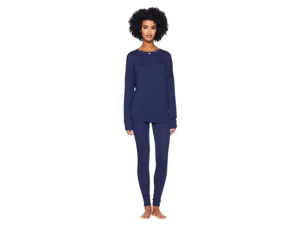 Emporio Armani Viscose Dreaming Pajamas (Deep Blue) Women