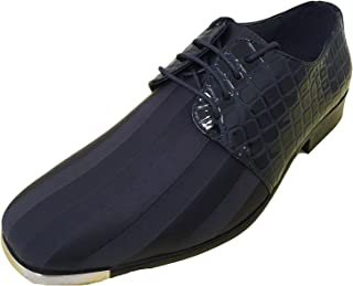 G4U-Parrazo Mens Satin and Synthetic Leather Upper