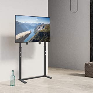 Wisfor 32-100 Inch TV Floor Bracket, Floor TV Stand with Mount Space Saving Height Adjustable Corner TV Stand Tall TV Stan...