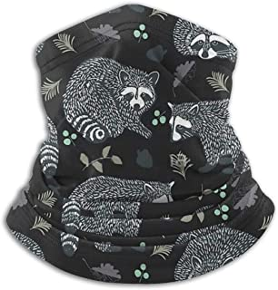 Civet Cats Crowd Fleece Neck Gaiter Warmer Winter Windproof Ski Face Mask Balaclava Half Mask For Women Men