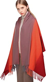 RIIQIICHY Rainbow Cashmere Scarfs for Women Warm Thick Winter Pashmina Shawls and Wraps Scarves