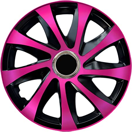 15 Zoll Rkk13 Matt Black Line Schwarz Pink Radkappen Radzierblenden 4 Stück Auto