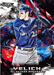 2018 Topps Fire Baseball #104 Christian Yelich Milwaukee Brewers Target Exclusive MLB Trading Card
