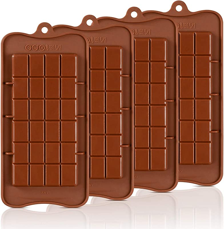 Chocolate Molds Silicone Candy Molds Break Apart Silicone Chocolate Molds Candy Protein And Energy Bar Mold Baking Tray Pack Of 4 1