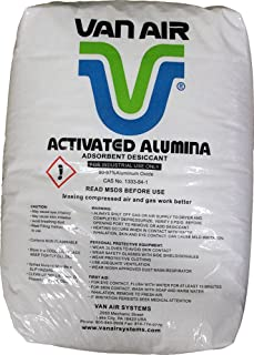 Van Air Systems 33-0367 Activated Alumina Desiccant, Air Dryers, Water Filtration, 50 lb Bag, 4-8 mm Spheres, 3/16