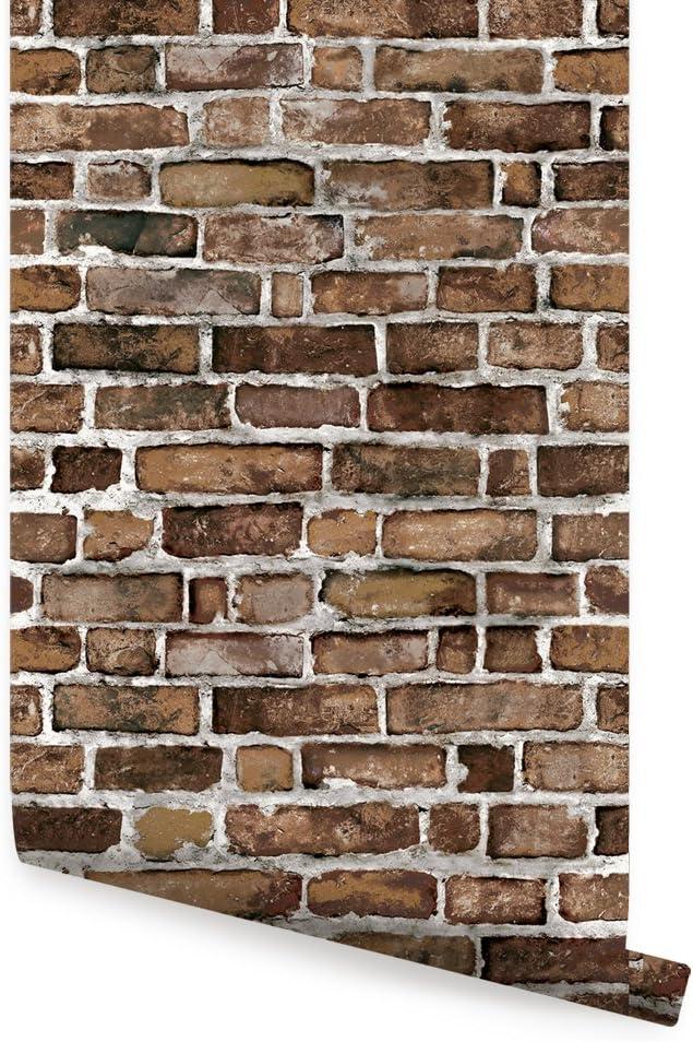 Brown Brick Wallpaper - Peel 全品最安値に挑戦 大注目 and Stick 2 ft x Single 9