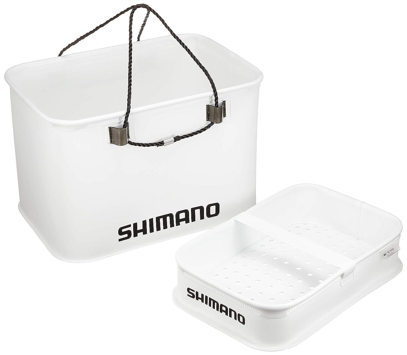 ズーム提唱する法律シマノ クーラー用バッカン スノコ付 ホワイト BK-005M