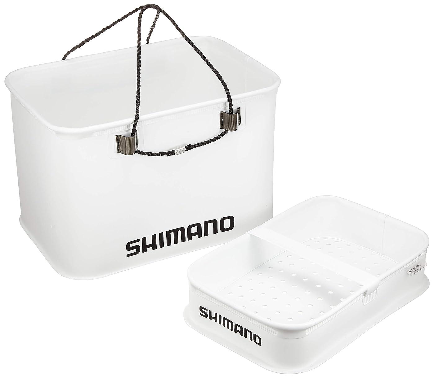 節約ぼろ債務シマノ クーラー用バッカン スノコ付 ホワイト BK-005M