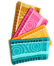 Cotton Colors 300 GSM 4 Piece Cotton Hand Towel Set - Multicolor_D2