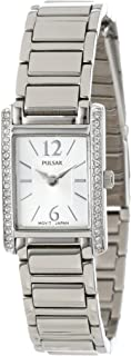 Women's PEGC51 Crystal Accented Dress Silver-Tone Stainless Steel Watch