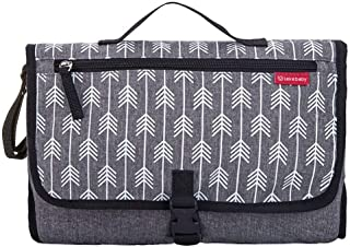 Lekebaby Portable Changing Pad Waterproof Nappy Change Mat Built-in Head Cushion Travel Baby Changing Station, Arrow Print...