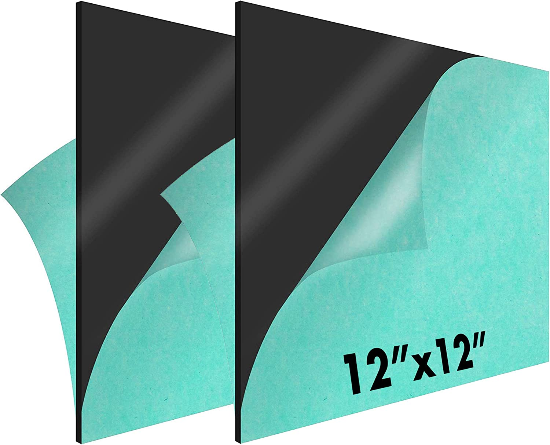"12 x 12"" Minneapolis Mall Black Acrylic Sheet 8 2-Pack Reservation 1 Plexiglass –"