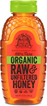 Nature Nate's 100% Pure Raw & Unfiltered Organic Honey; Product of Brazil and Uruguay; Packaged in 16 Ounce. Squeeze Bottl...