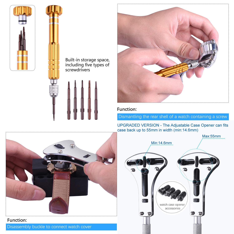 ETEPON Kit reparacion relojes 149 Piezas Profesional, Herramientas Relojero (ET015): Amazon.es: Bricolaje y herramientas