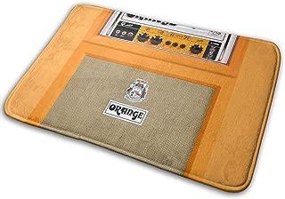 新しいレトロなオレンジギターエレクトリックアンプアンプIphone玄関マットエントランスマットフロアマットラグ屋内/玄関/バスルーム/キッチンとリビングルーム/ベッドルームマット23.6 X 15.8インチ