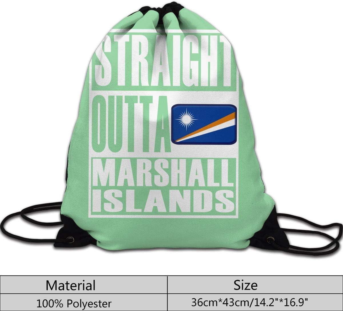 CKJL-YJ Straight Outta Marshall Islands Unisex Drawstring Backpacks Sport Leisure Bag