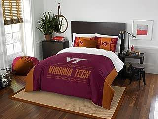 Virginia Tech Hokies - 3 Piece FULL / QUEEN SIZE Printed Comforter & Shams - Entire Set Includes: 1 Full / Queen Comforter (86