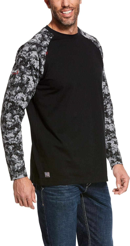 Ariat FR Baseball T-Shirt - Men's Long Sleeve Comfortable Work Shirt