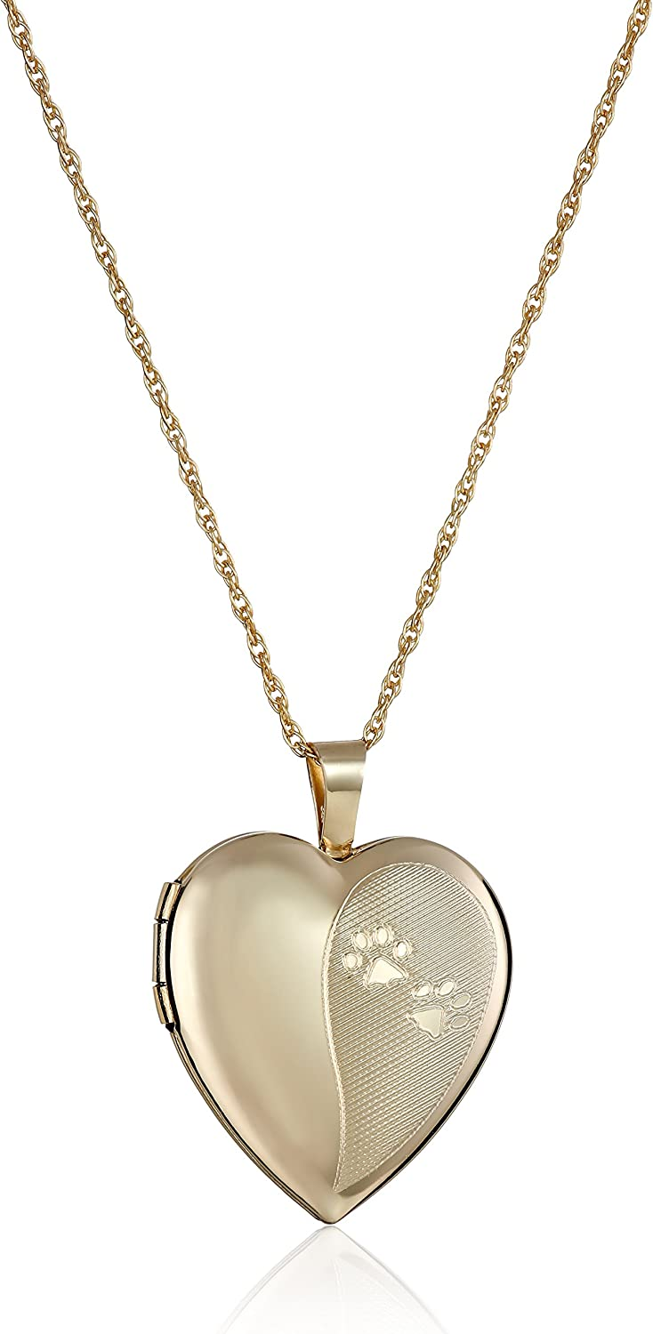 Japan's largest assortment 14k Gold-Filled Heart-Shaped Dog Paw 18