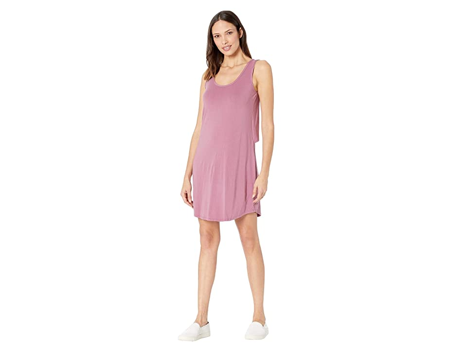 Mod-o-doc Tank Dress with Back Twist (Purple Rose) Women