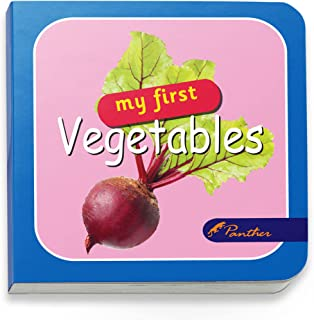 Panther Board Books My First Vegetables 12 Pages In Hard Cover 8.5X8.5Cm