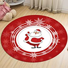 Flannel Rug Bedroom Bedside Living Room Coffee Table Round Carpet Child Crawling Mat Warm Non-Slip and Durable,5,60cm