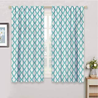HoBeauty home Blackout curtainMoroccan Mosaic Tile Arabesque Pattern Abstract Middle Motifs Work of Artdrapes panelsTurquoise72 x 45 inch