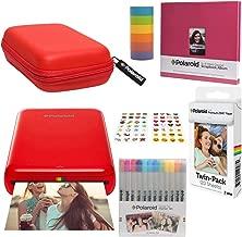 Polaroid Zip Wireless Photo Printer (Red) Scrapbook Kit with Eva Case