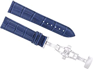 22MM LEATHER WATCH BAND STRAP FOR 42MM BAUME MERCIER CLASSIMA 8692 8733 BLUE
